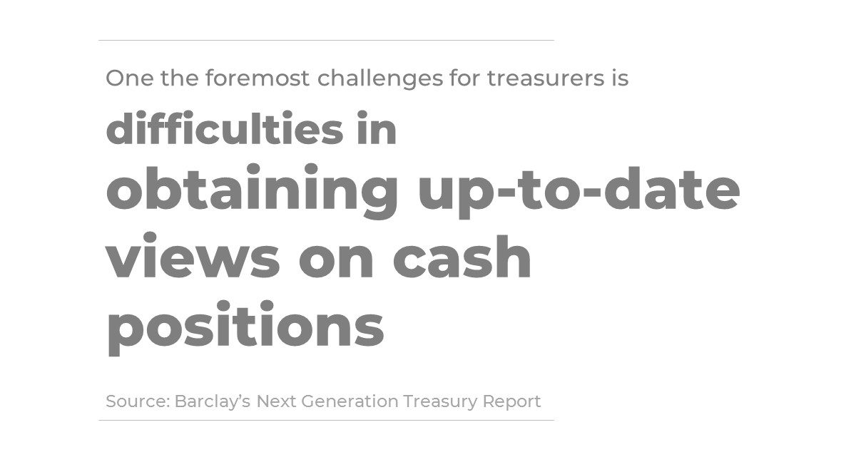 Treasurers report on difficulties in obtaining up to date cash positions